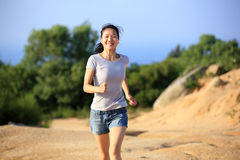 Woman runner outdoor Royalty Free Stock Photography