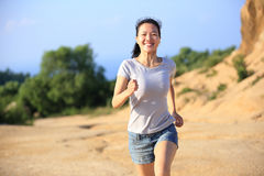Woman runner outdoor Royalty Free Stock Photos