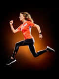 Woman runner running jogger jogging isolated Royalty Free Stock Image