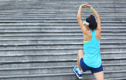 Woman runner stretching outdoor Royalty Free Stock Photography