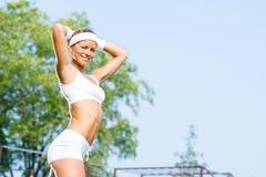 Woman runner Royalty Free Stock Image