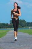Woman running. Outdoor Stock Image