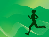 Woman Running. This is a  illustration of a woman running in the park getting some exercise Royalty Free Stock Photo