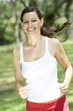 Woman Running royalty free stock photo