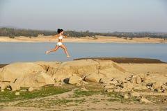 Woman Running Royalty Free Stock Photo