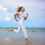 Woman running Royalty Free Stock Photos