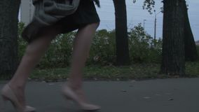 Woman Running Away