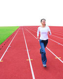 Woman running forward Stock Images
