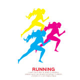 Woman running. Girl run, jogge. Sport. Women running. Girl run, jogge. Sport Tournament. Summertime Sport wear Vector illustration Royalty Free Stock Image