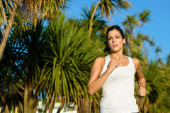 Woman running for healthy lifestyle Stock Photos