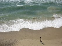 Woman Running In A Beach Stock Photography