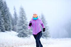 Woman running inspiration and motivation, runner Royalty Free Stock Images
