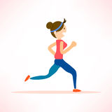 Woman running, jogging, marathon sport Royalty Free Stock Image