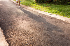 Woman running jogging on street Royalty Free Stock Images