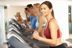 Woman On Running Machine Royalty Free Stock Image