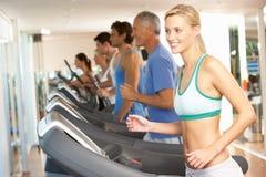 Woman On Running Machine Stock Image