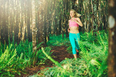 Woman Running Royalty Free Stock Photography