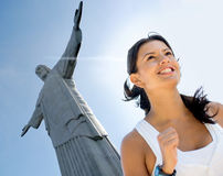 Woman running in Rio Stock Photography
