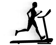 Woman Running on a Treadmill Royalty Free Stock Photography