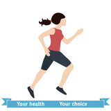 Woman Running Vector Illustration Royalty Free Stock Image