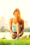 Woman running workout Royalty Free Stock Photos