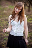 Woman in rural area Royalty Free Stock Images