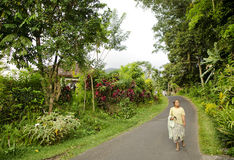 Woman in rural bali indonesia Royalty Free Stock Photos