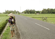 Woman in rural bali indonesia Stock Photography