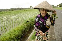 Woman in rural bali indonesia Stock Photo