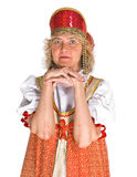 Woman in Russian costume royalty free stock photos