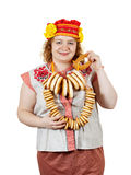 Woman in Russian folk clothes Royalty Free Stock Image