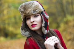 Woman with a Russian hat Royalty Free Stock Photos