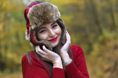Woman with a Russian hat Royalty Free Stock Photography