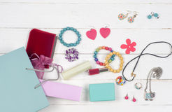 Woman's accessories Royalty Free Stock Photo