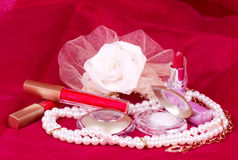 Woman's accessory and cosmetic Royalty Free Stock Photos