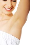 Woman's armpit. Close up Stock Images