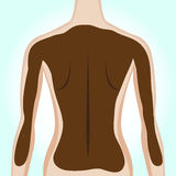 Woman's back getting mud treatment Stock Photo