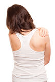Woman`s back in pain Royalty Free Stock Photo
