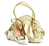 Womans bag and shoes Stock Images