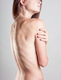 Woman's bare back Stock Images