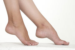 Woman's Bare Feet Royalty Free Stock Photos