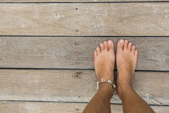 Woman's bare feet Royalty Free Stock Image