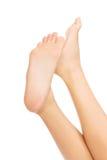 Woman's bare feet. Stock Image