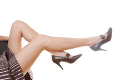 Woman's beautiful legs stock images