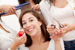 Woman's beauty day Stock Images