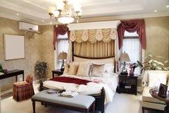 Woman's bedroom interior royalty free stock photos