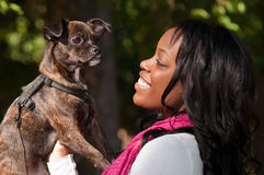 Woman's Best Friend Stock Photos