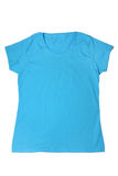 Woman`s blue t-shirt Royalty Free Stock Photography