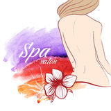 A woman's bod. Background for design. Spa salon. Stock Image