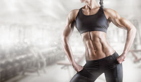 Woman's body bodybuilder Royalty Free Stock Images